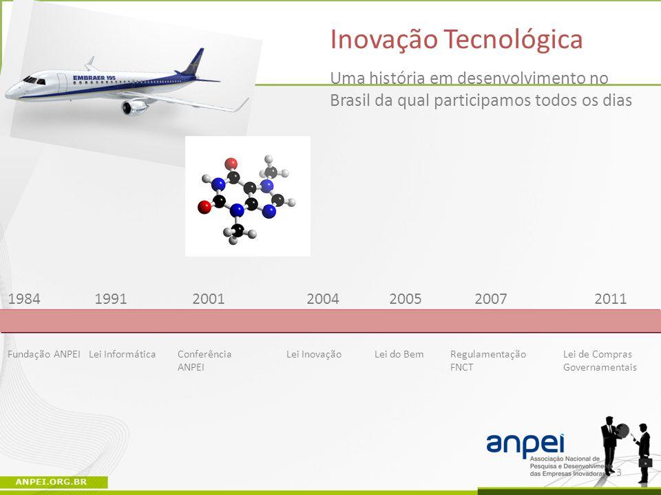 Inovação Tecnológica Uma história em desenvolvimento no Brasil da qual participamos todos os dias. 1984.