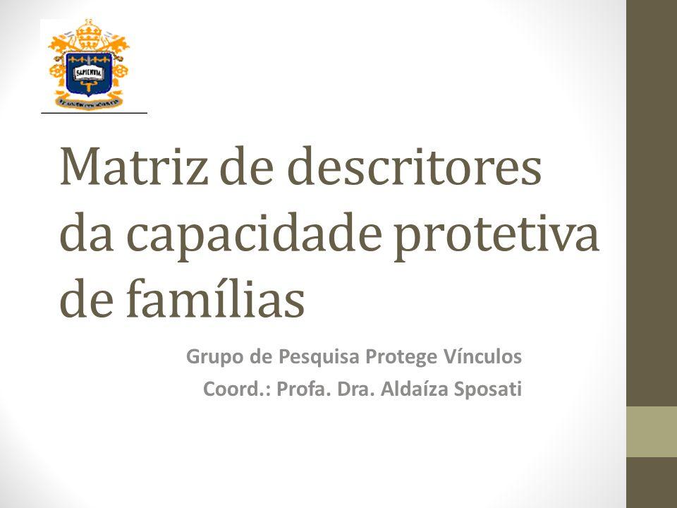 Matriz de descritores da capacidade protetiva de famílias