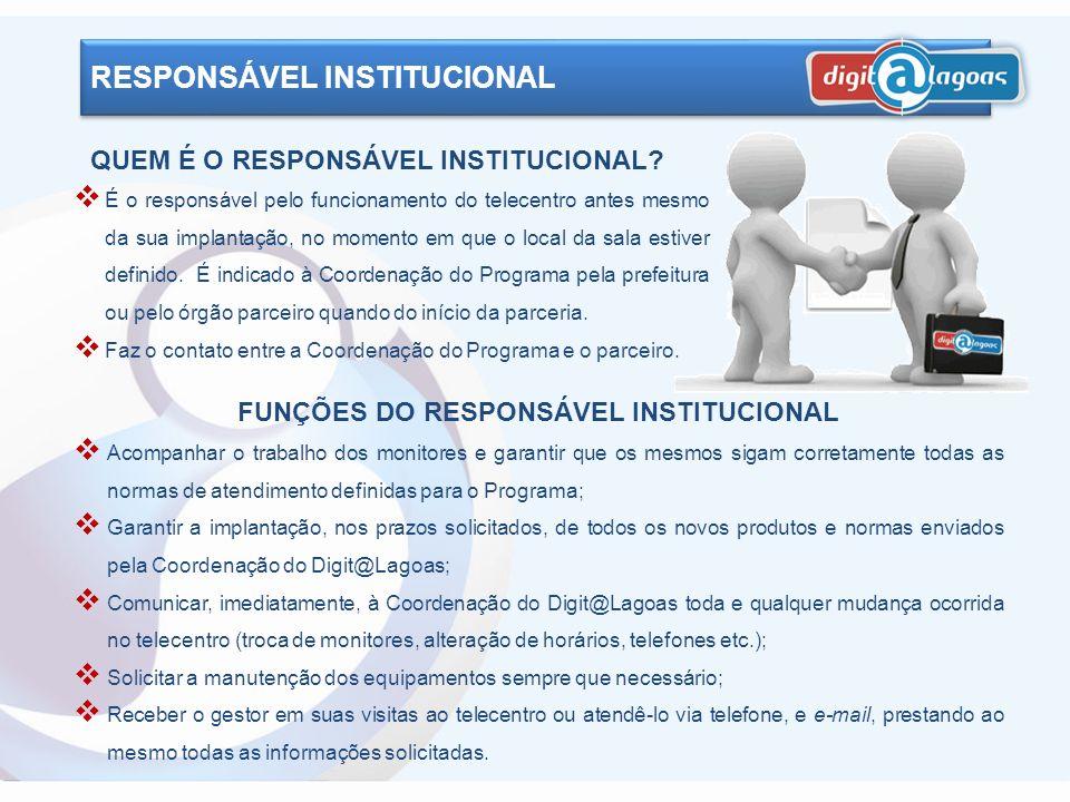 FUNÇÕES DO RESPONSÁVEL INSTITUCIONAL