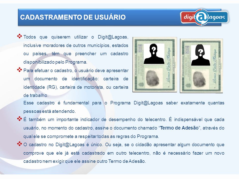 CADASTRAMENTO DE USUÁRIO