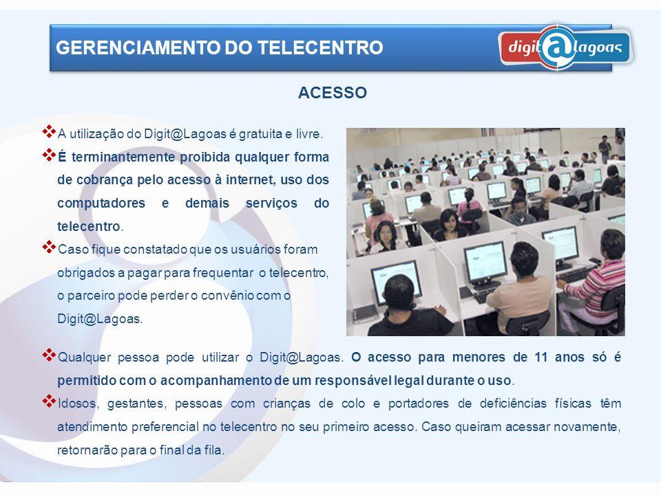 GERENCIAMENTO DO TELECENTRO