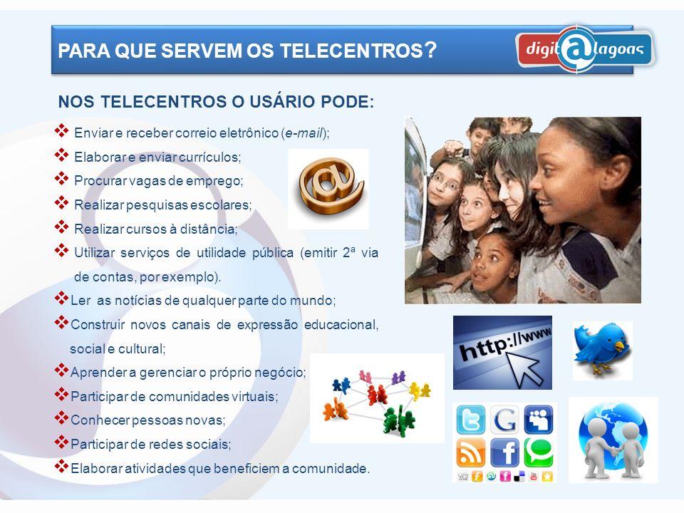 PARA QUE SERVEM OS TELECENTROS