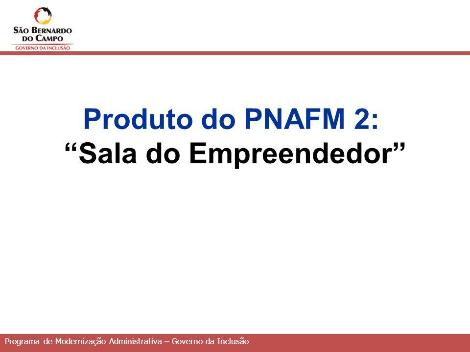 Produto do PNAFM 2: Sala do Empreendedor