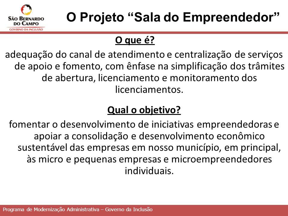 O Projeto Sala do Empreendedor