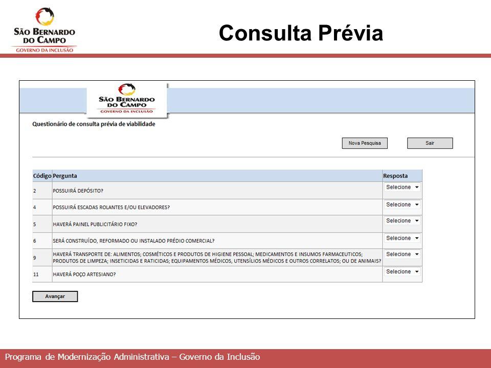 Consulta Prévia