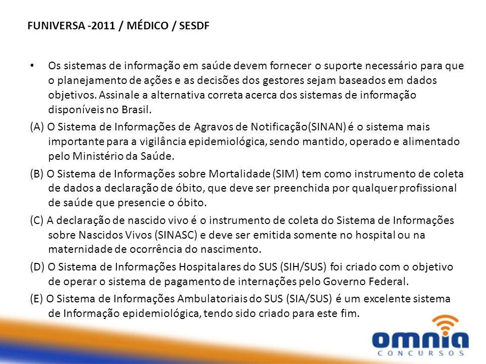 FUNIVERSA -2011 / MÉDICO / SESDF