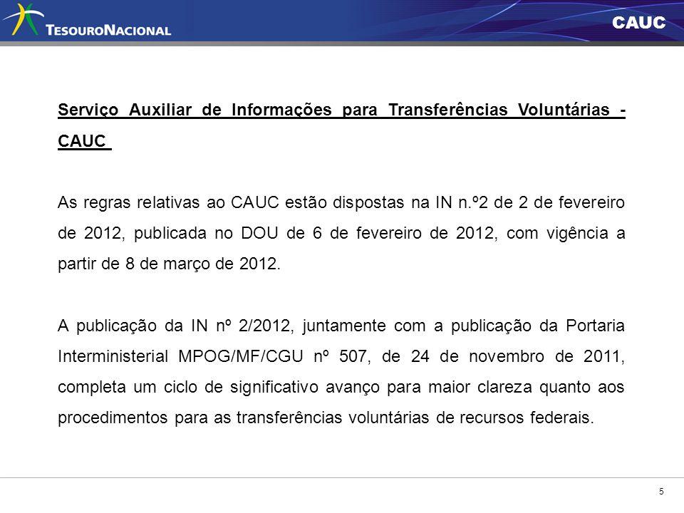 Serviço Auxiliar de Informações para Transferências Voluntárias - CAUC
