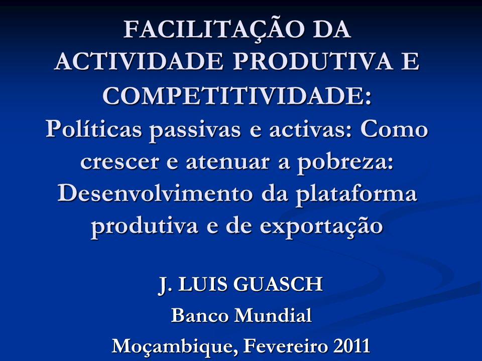 J. LUIS GUASCH Banco Mundial Moçambique, Fevereiro 2011