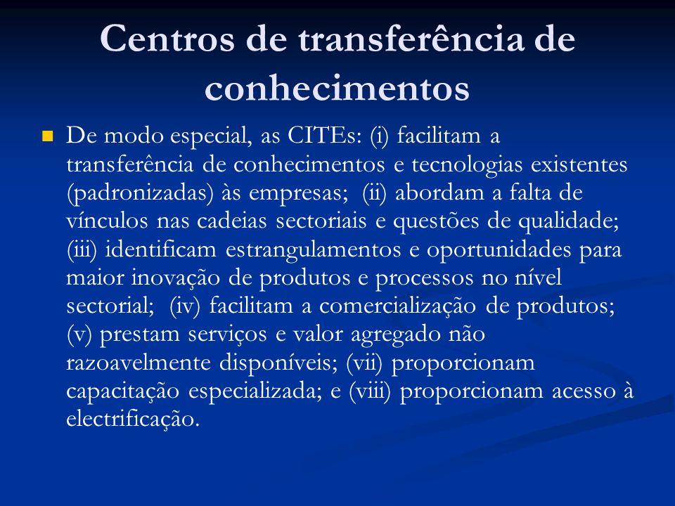 Centros de transferência de conhecimentos