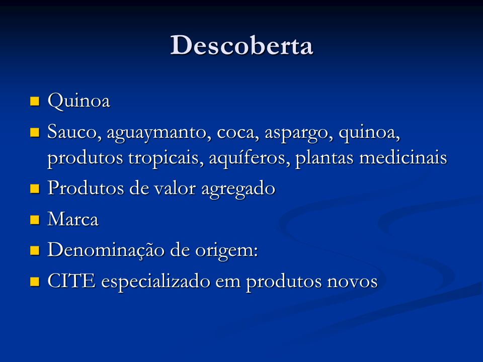 Descoberta Quinoa. Sauco, aguaymanto, coca, aspargo, quinoa, produtos tropicais, aquíferos, plantas medicinais.