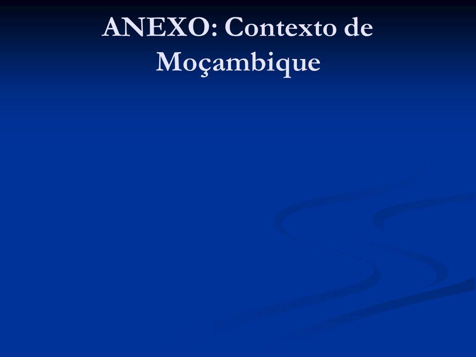 ANEXO: Contexto de Moçambique