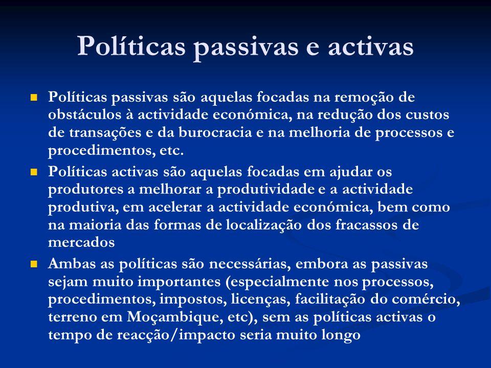 Políticas passivas e activas