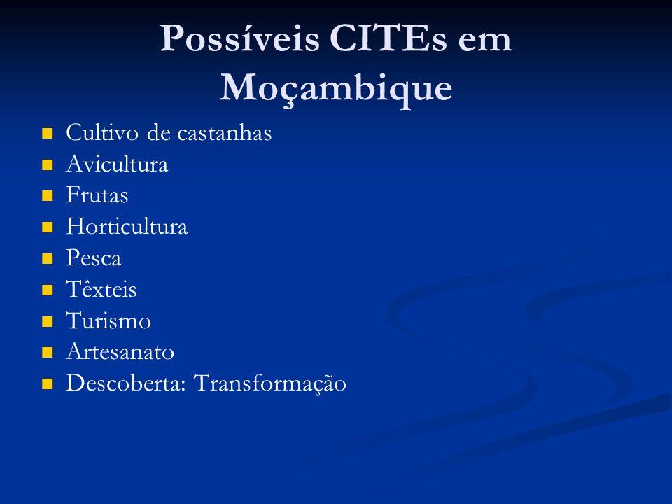 Possíveis CITEs em Moçambique