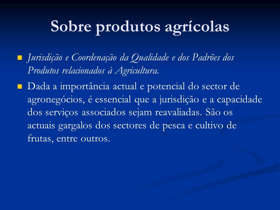 Sobre produtos agrícolas