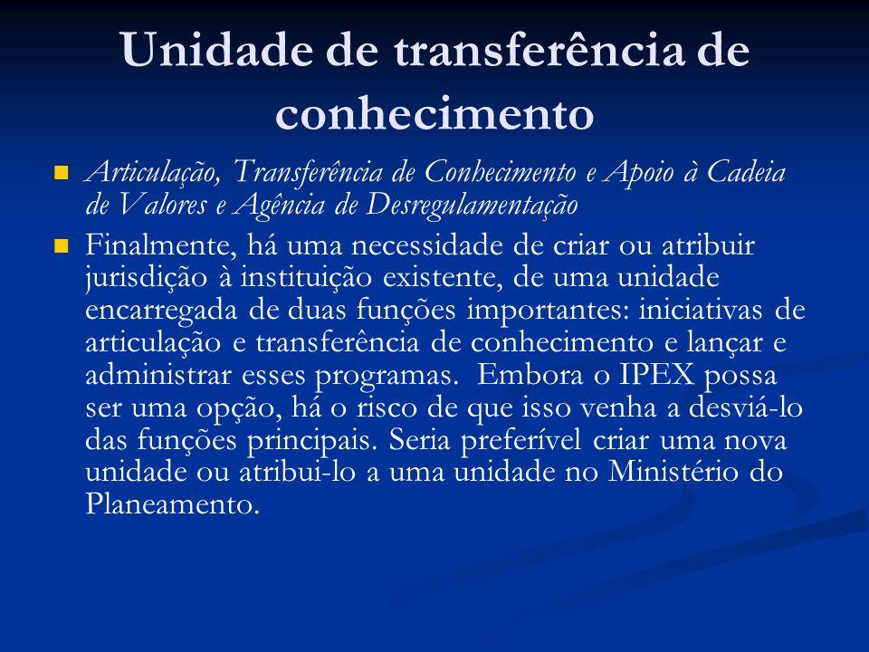 Unidade de transferência de conhecimento