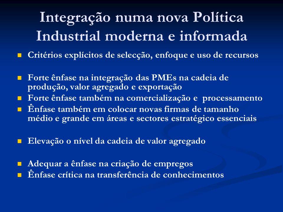 Integração numa nova Política Industrial moderna e informada