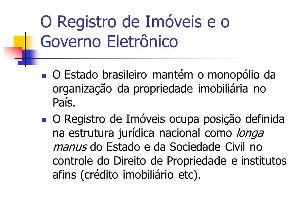 O Registro de Imóveis e o Governo Eletrônico