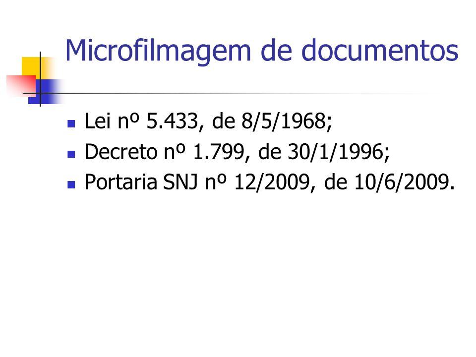 Microfilmagem de documentos