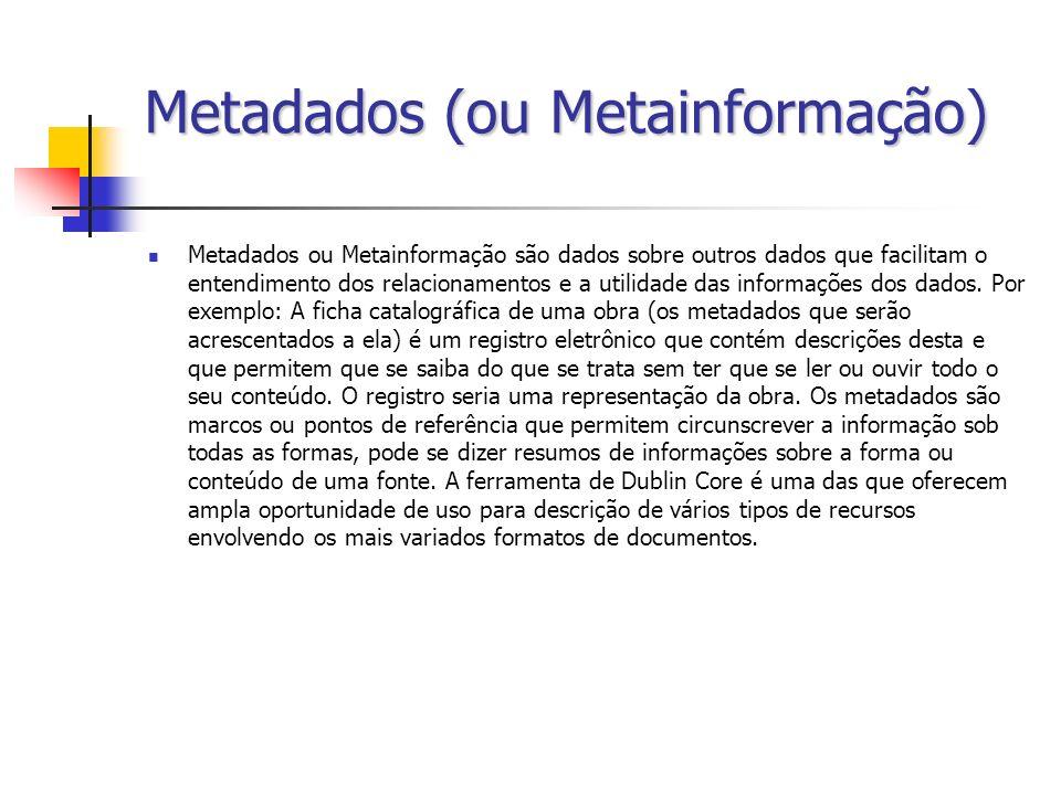 Metadados (ou Metainformação)