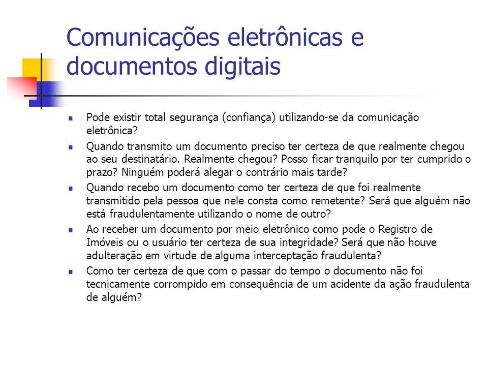 Comunicações eletrônicas e documentos digitais