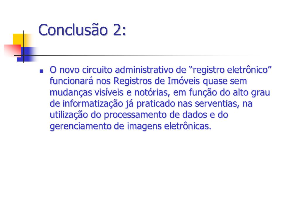 Conclusão 2: