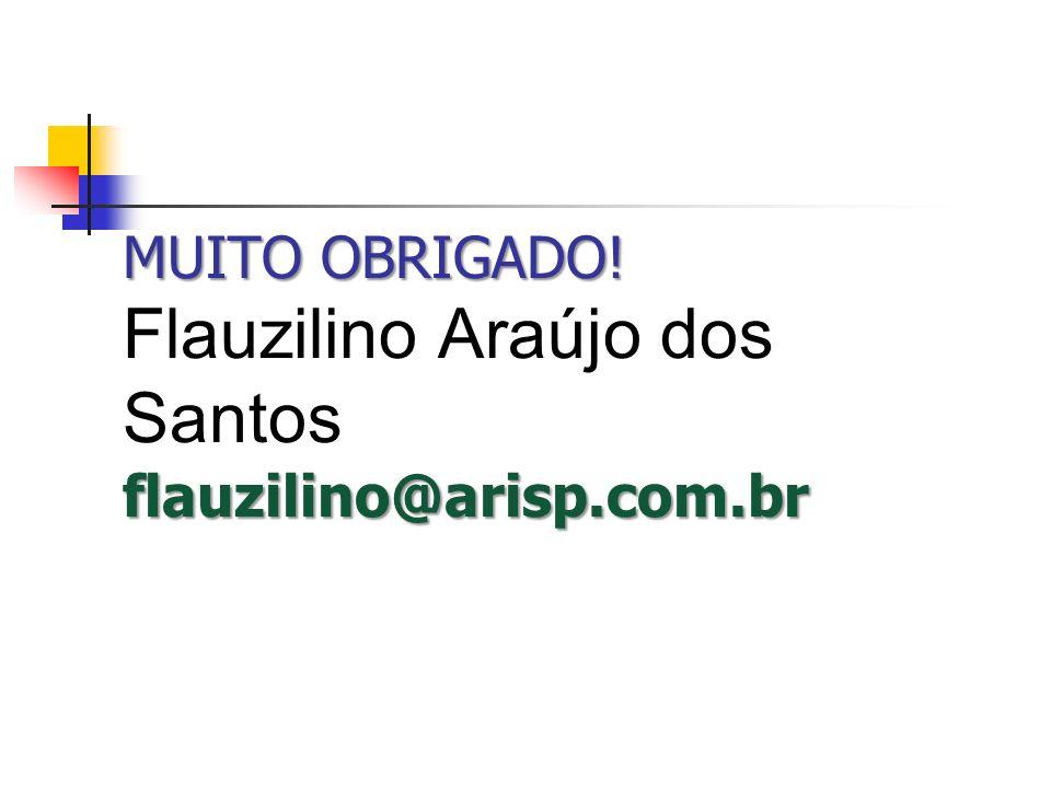 MUITO OBRIGADO! Flauzilino Araújo dos Santos flauzilino@arisp.com.br