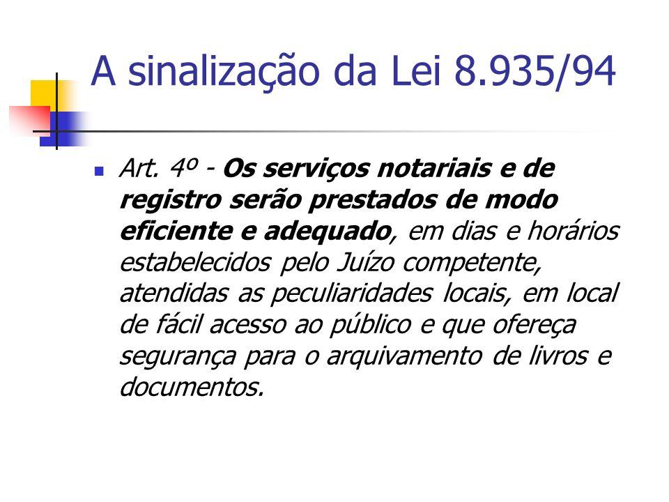 A sinalização da Lei 8.935/94