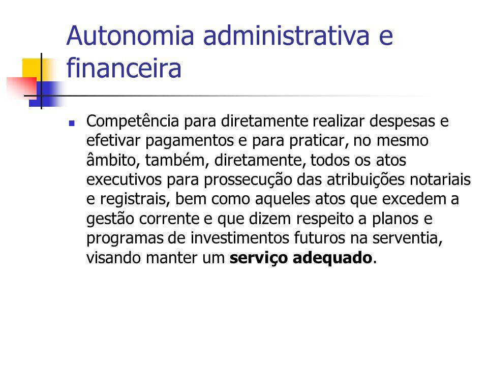 Autonomia administrativa e financeira