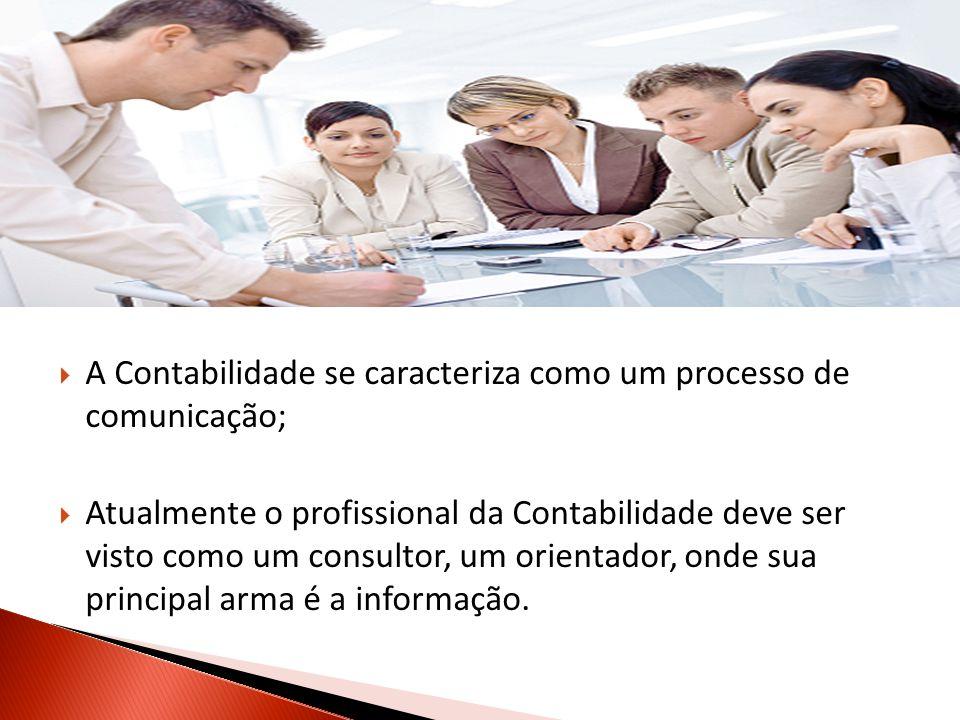 A Contabilidade se caracteriza como um processo de comunicação;