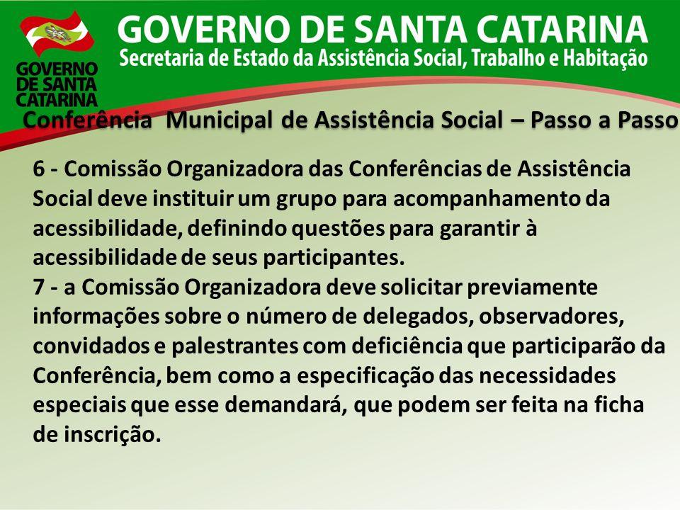 Conferência Municipal de Assistência Social – Passo a Passo