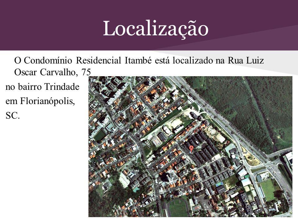 Localização no bairro Trindade em Florianópolis, SC.