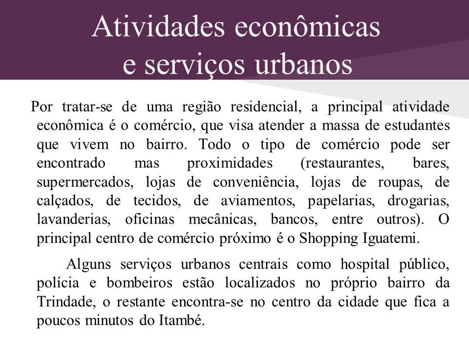 Atividades econômicas e serviços urbanos