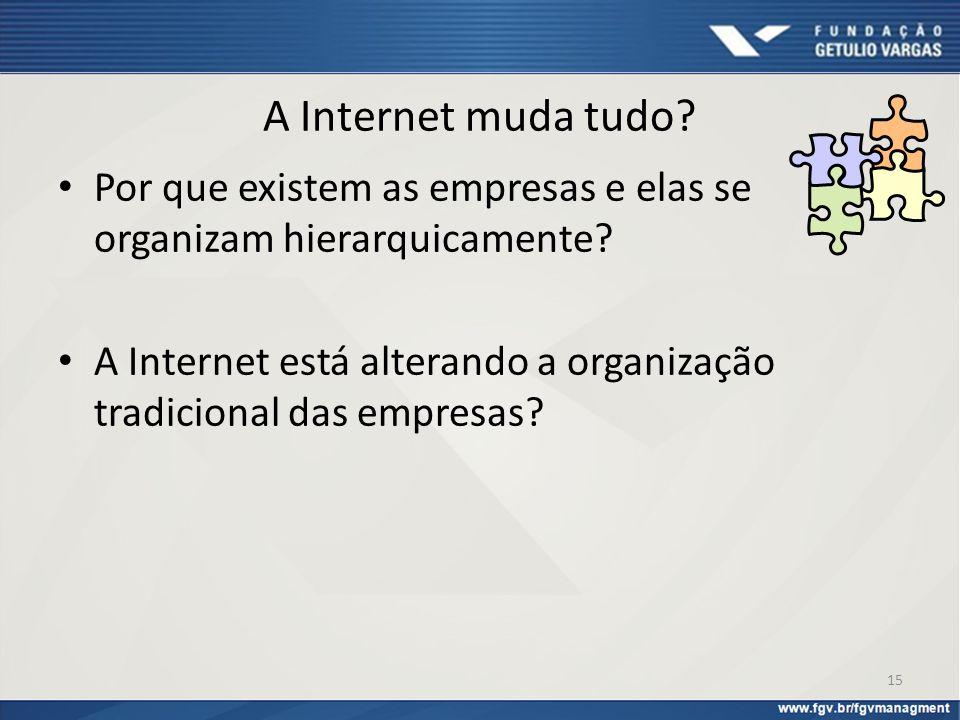 A Internet muda tudo Por que existem as empresas e elas se organizam hierarquicamente