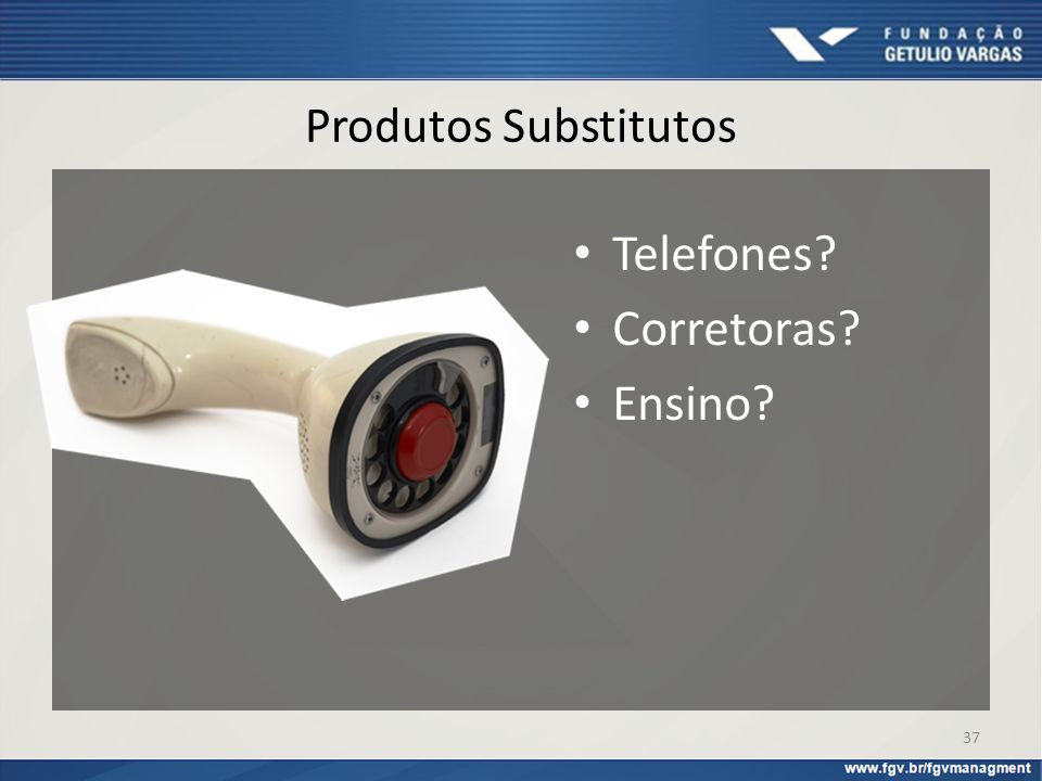 Telefones Corretoras Ensino Produtos Substitutos