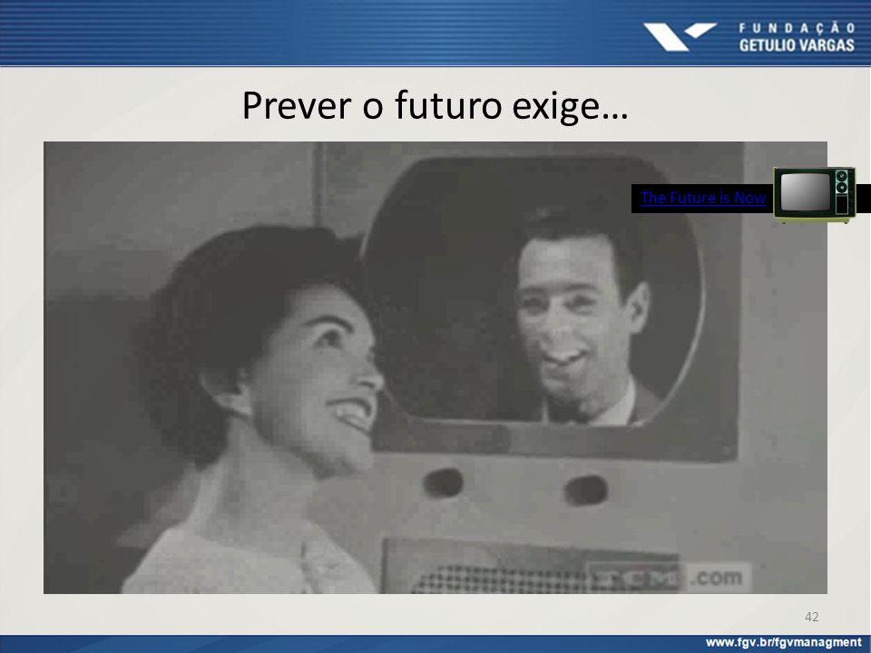 Prever o futuro exige… The Future is Now