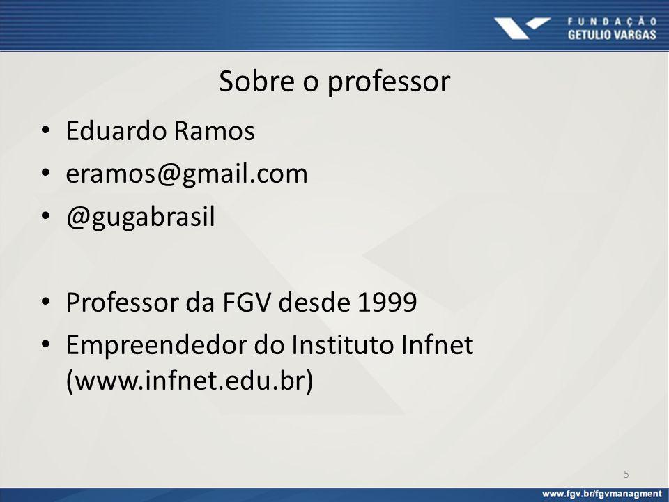 Sobre o professor Eduardo Ramos eramos@gmail.com @gugabrasil