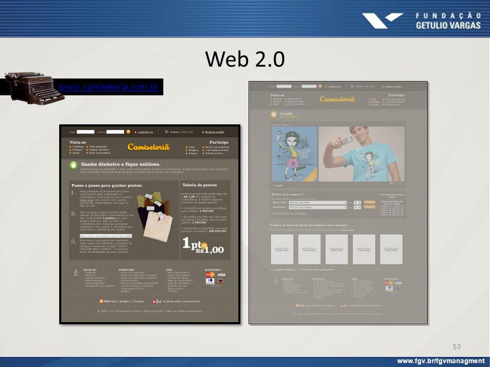 Web 2.0 www. camiseteria.com.br