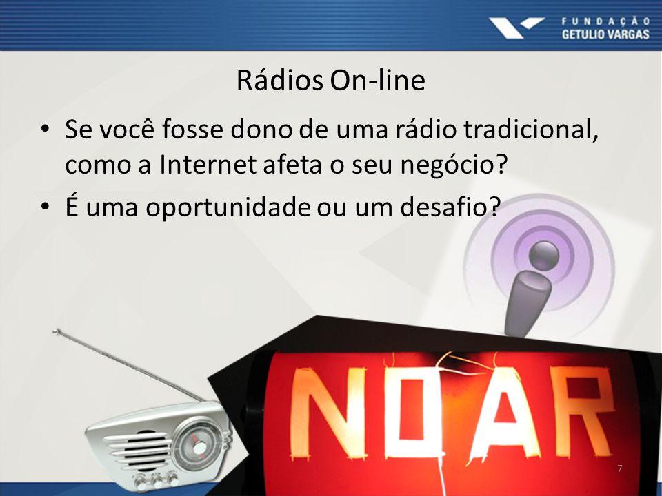 Rádios On-line Se você fosse dono de uma rádio tradicional, como a Internet afeta o seu negócio.