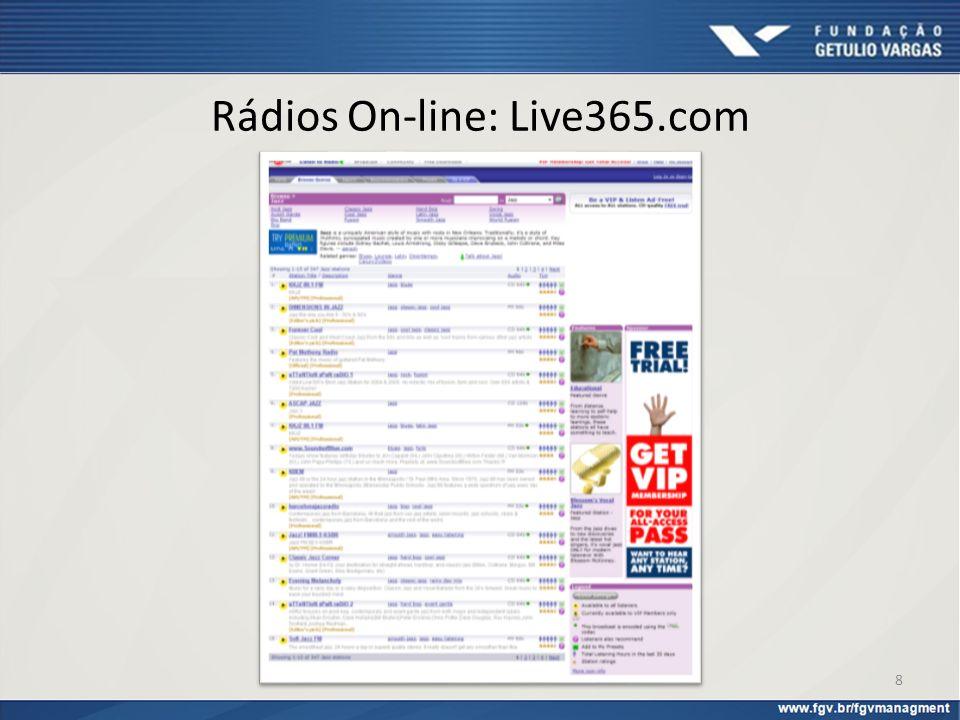 Rádios On-line: Live365.com