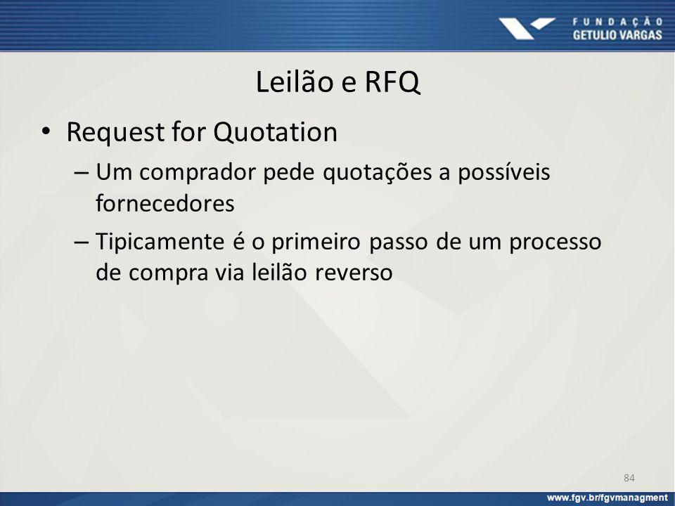 Leilão e RFQ Request for Quotation
