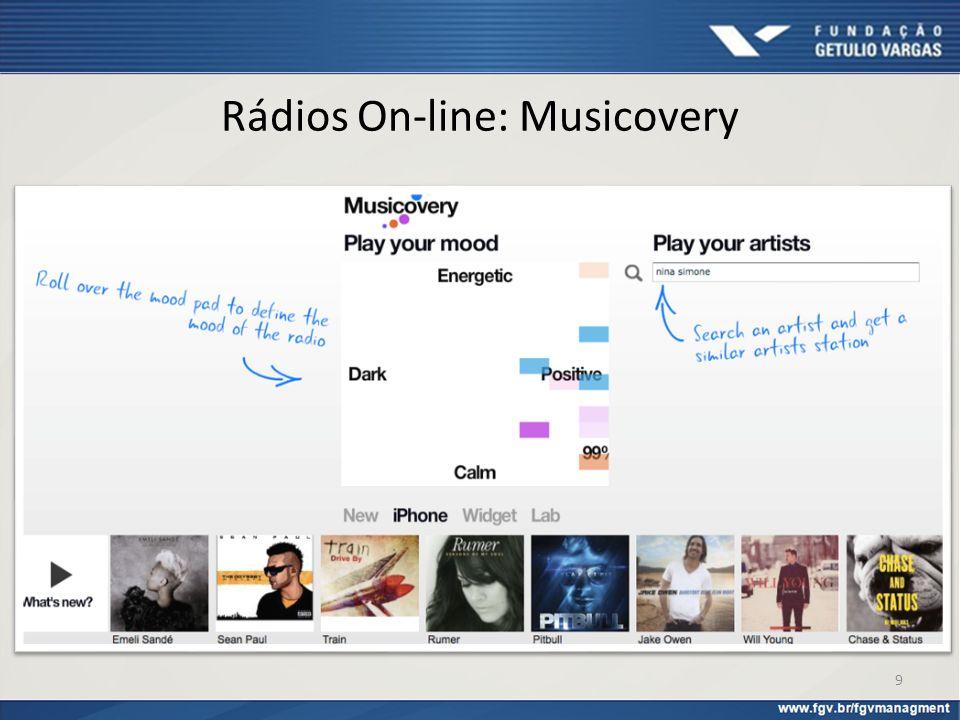 Rádios On-line: Musicovery
