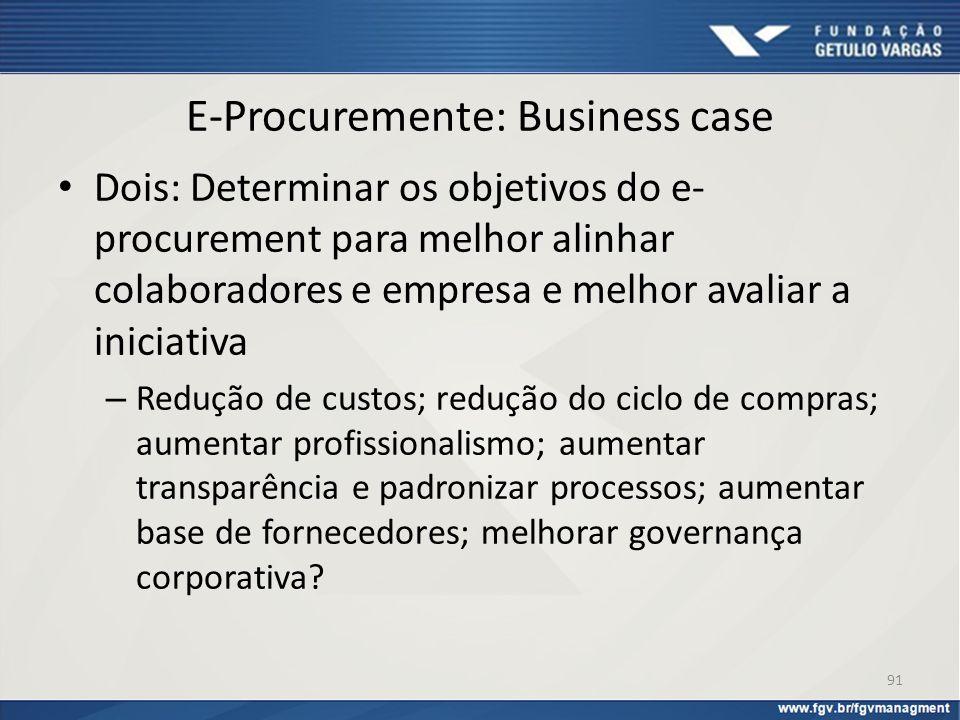 E-Procuremente: Business case