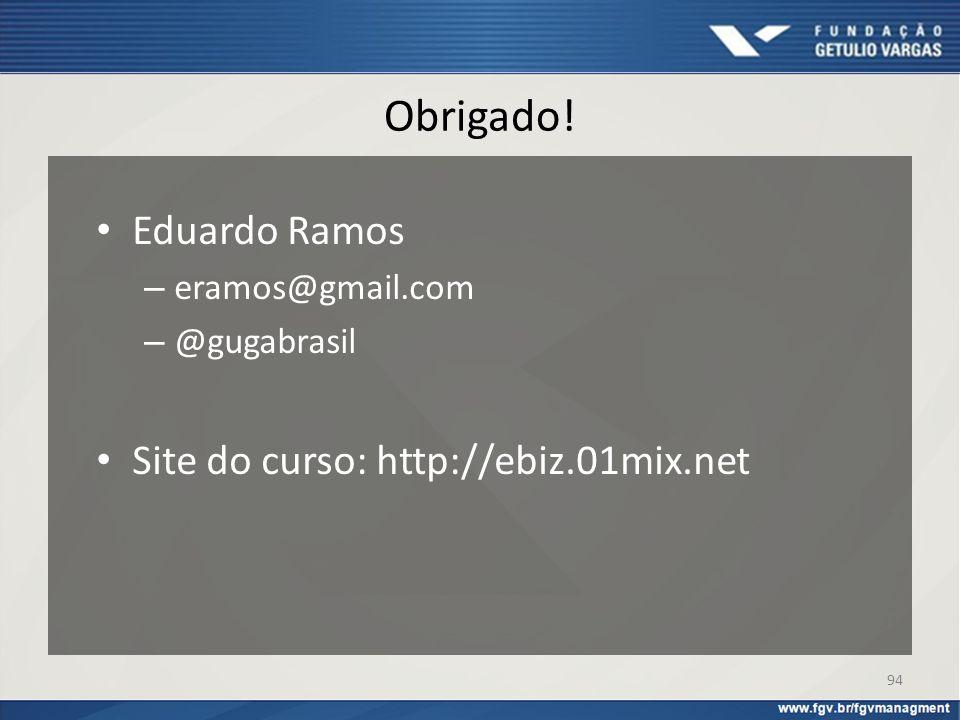 Obrigado! Eduardo Ramos Site do curso: http://ebiz.01mix.net