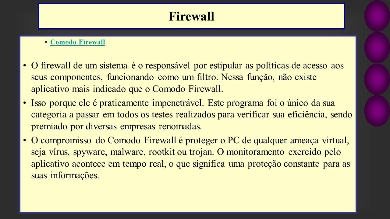 Firewall Comodo Firewall.