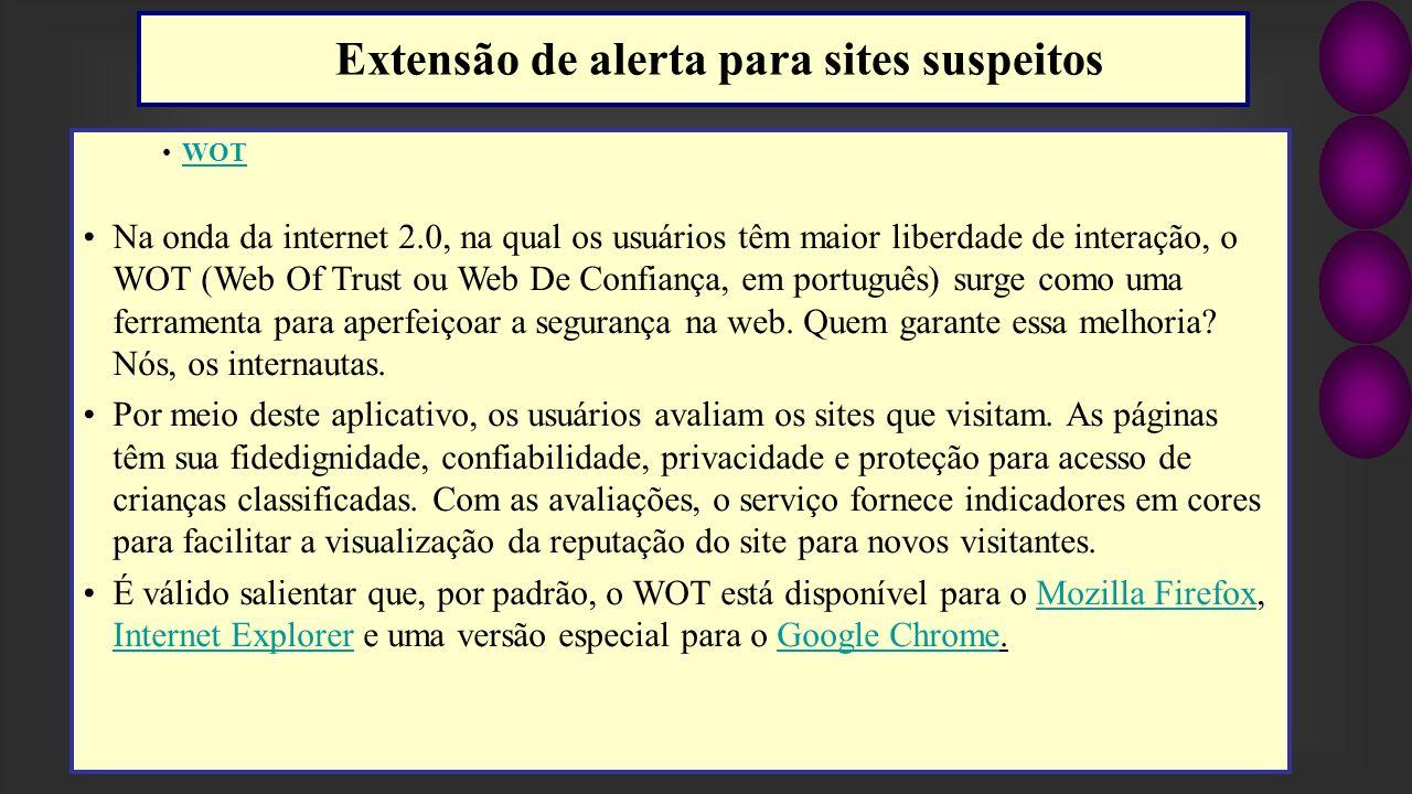 Extensão de alerta para sites suspeitos