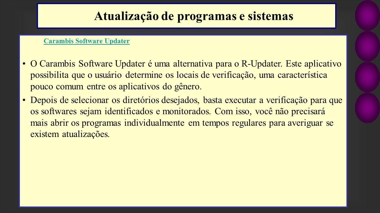 Atualização de programas e sistemas