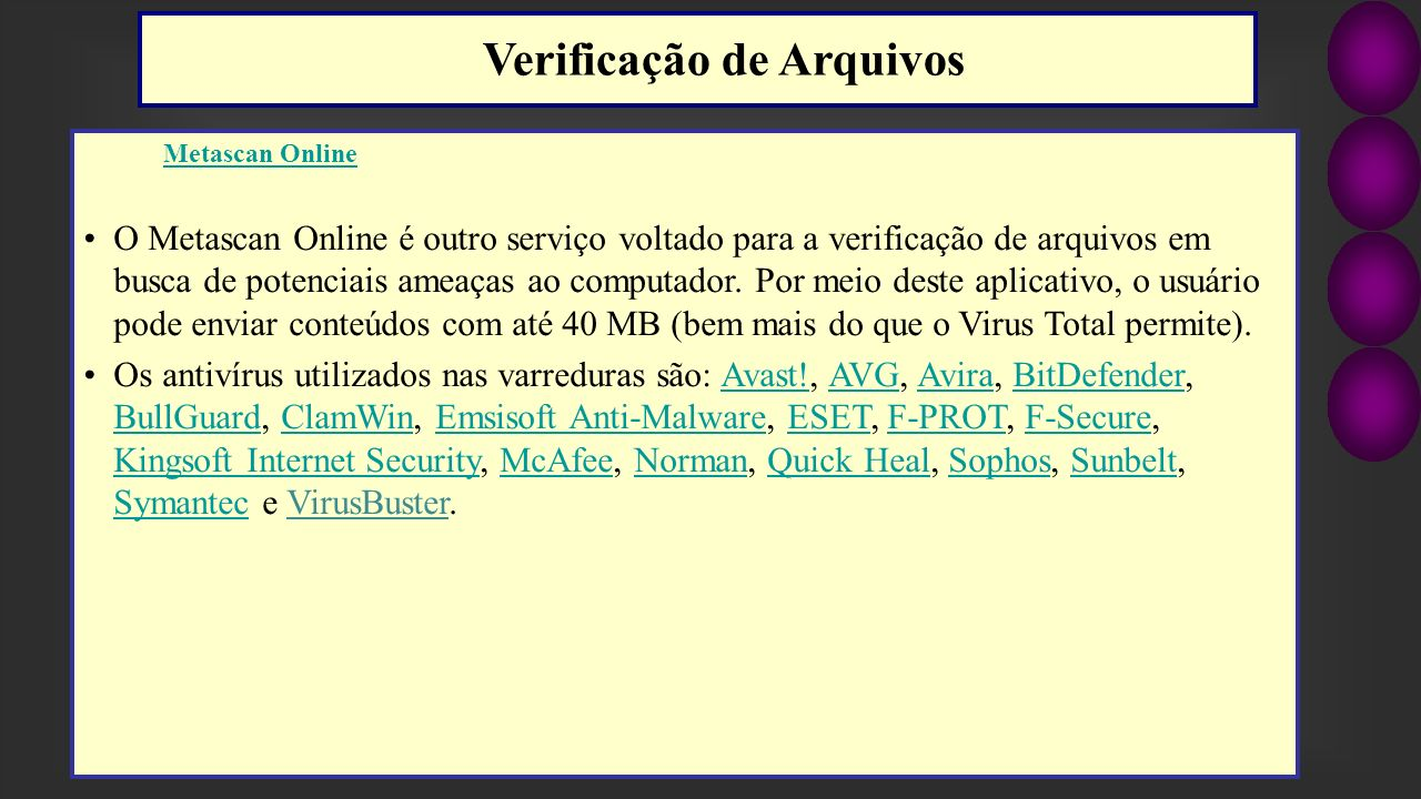 Verificação de Arquivos