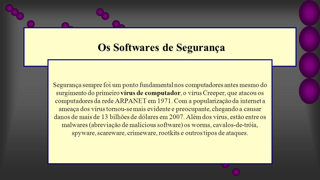 Os Softwares de Segurança
