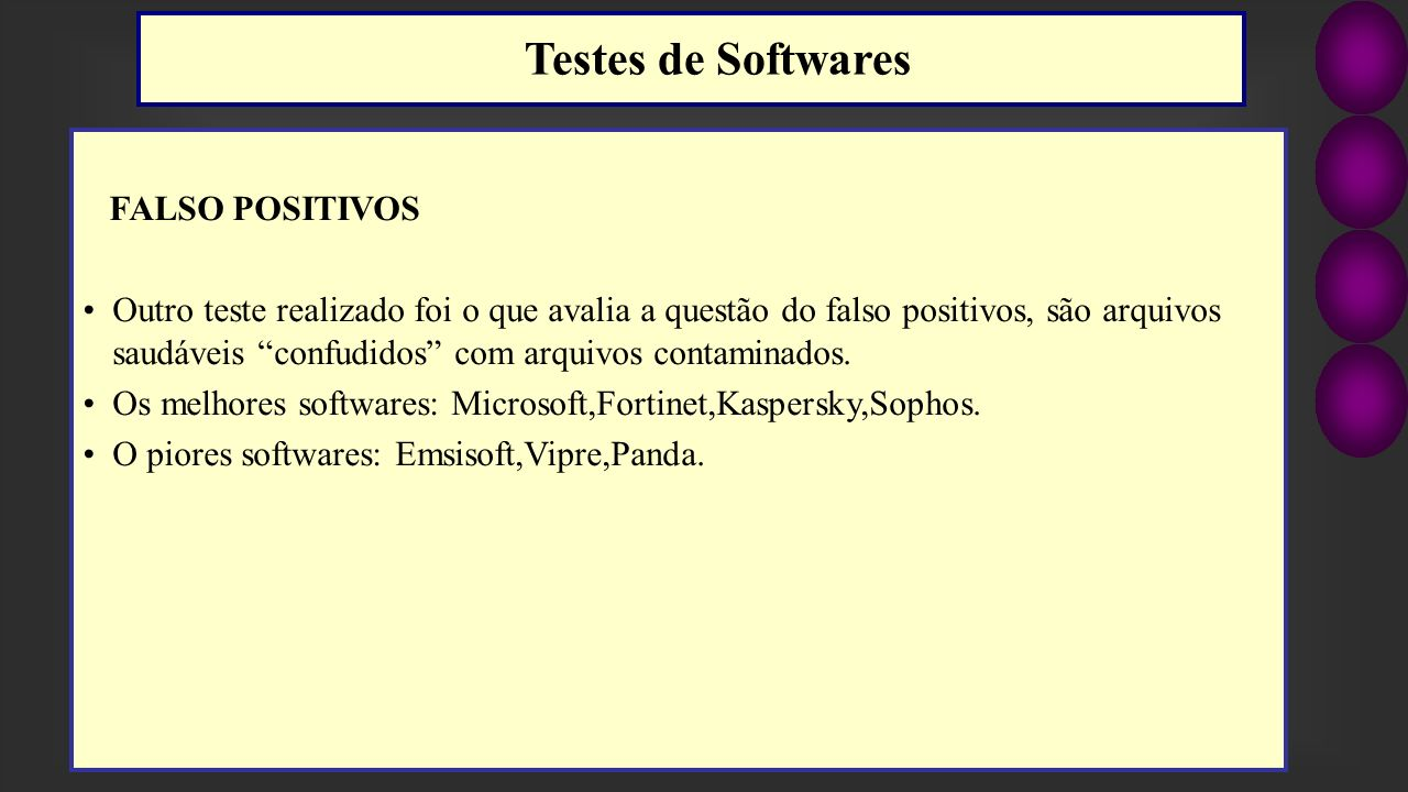 Testes de Softwares FALSO POSITIVOS