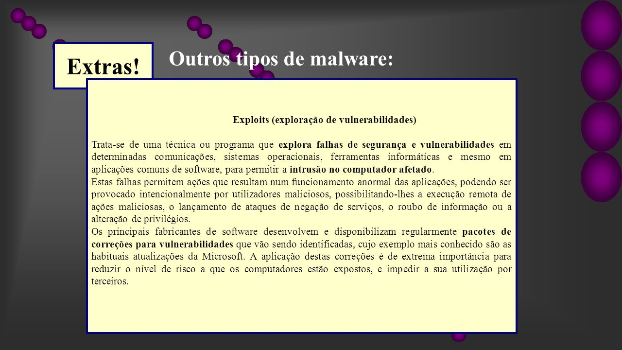 Exploits (exploração de vulnerabilidades)